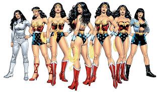 Wonder Woman's various costumes