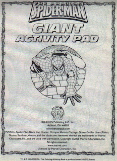 First page of Amazing Spider-Man Activity Pad