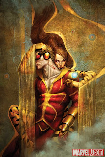 Variant cover for Avengers Academy #5 featuring Tigra vampire