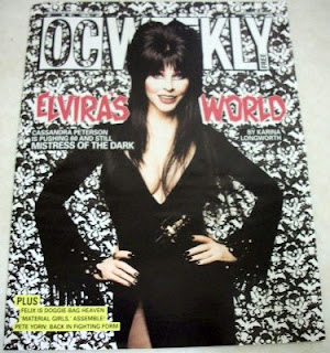 Cover of OC Weekly featuring Elvira