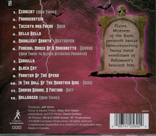 Back cover of Elvira's Heavy Metal Halloween
