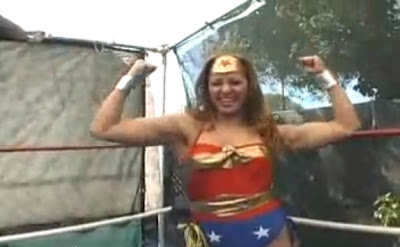 Latina Wonder Woman talking smack