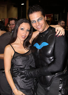 Amy Fisher and Batman unmasked