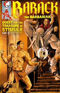 Cover of Barack The Barbarian #4 from Devil's Due Publishing