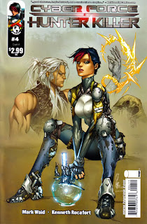 Cover A of CyberForce/Hunter-Killer #4 from Image