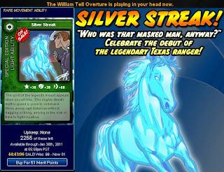 Silver Streak card at Superhero City