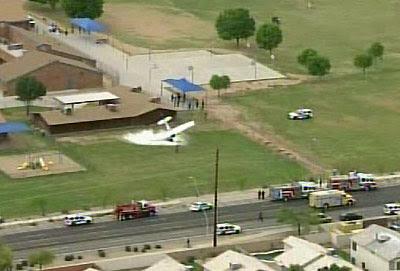Plane lands on School Playground