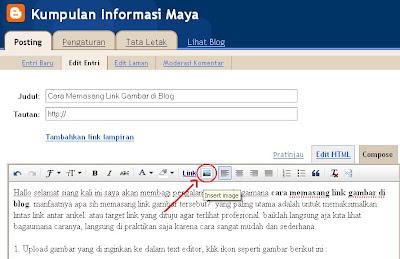 Cara Memasang Link Gambar di Blog