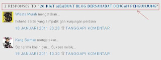 Tips Memodifikasi Komentar Default Blogger