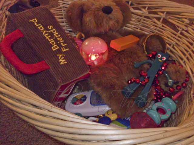 Toys in a basket