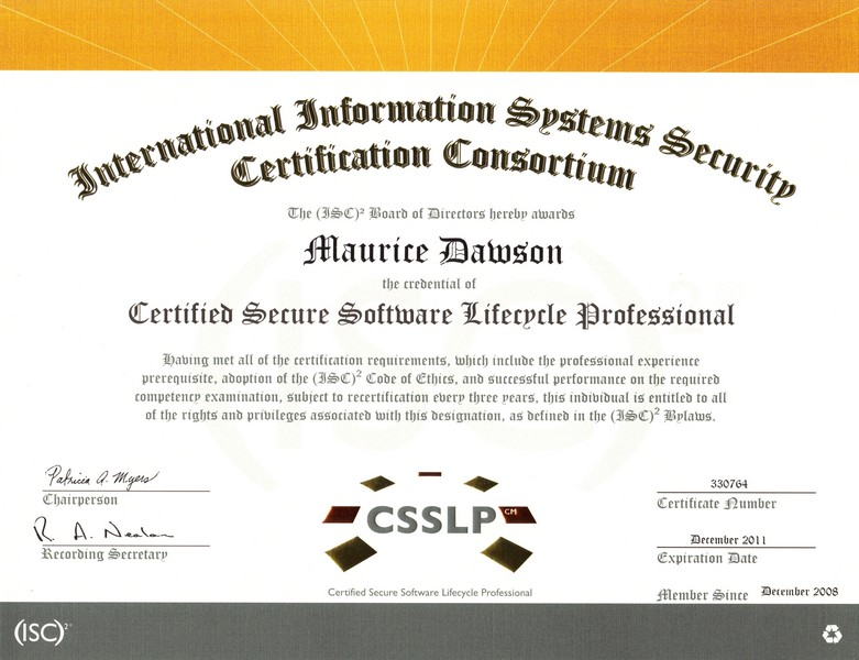 Technology Knowledge And Society Isc2 Certified Secure Software