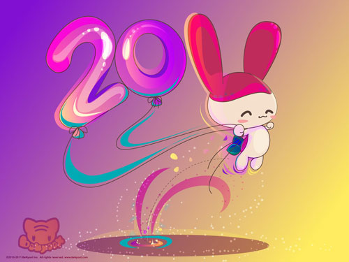 Wallpaper Of The Year. Cute girl new year wallpaper.