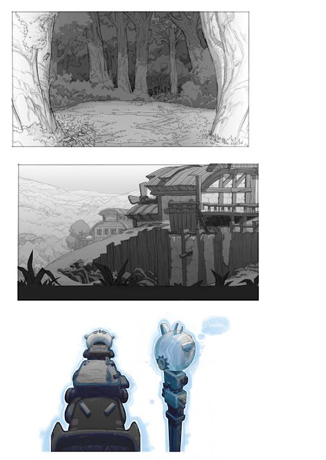 background layout  Wakfu animated serie - Ankama