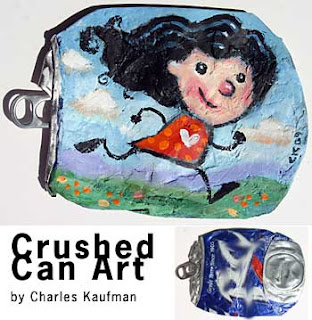 crushed can art, charles kaufman
