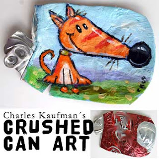 crushed can art
