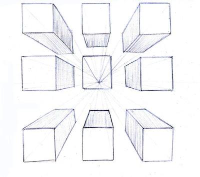 Dibujo1 perspectiva con 1 punto de fuga for Exterior a un punto de fuga