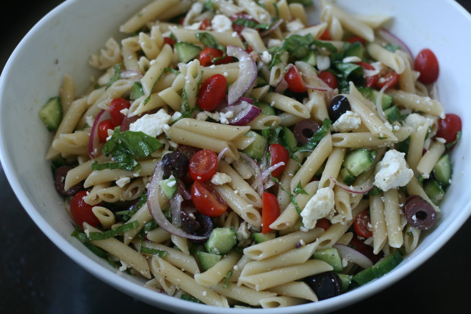 Week of Menus: Greek Pasta Salad: Questioning choices