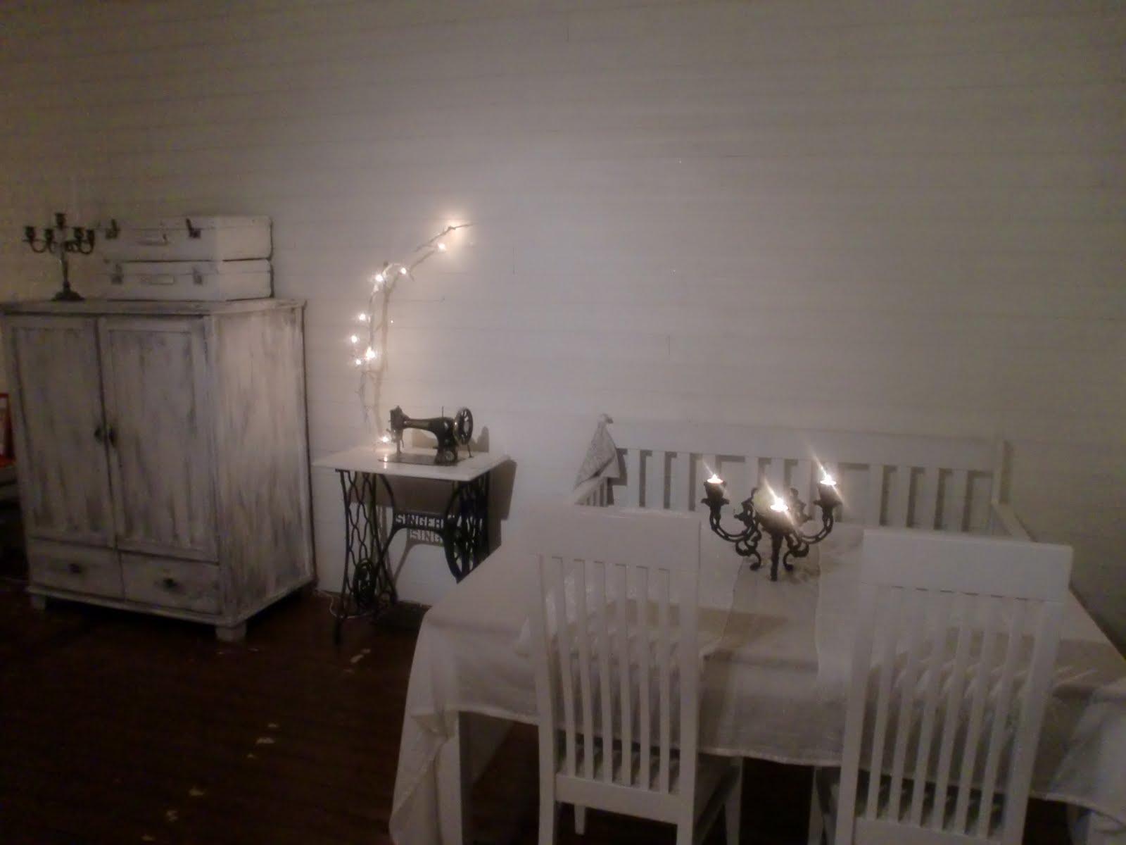 Vitt är vackert: vardagsrum glimt