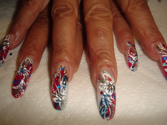 more 4th of July Nails