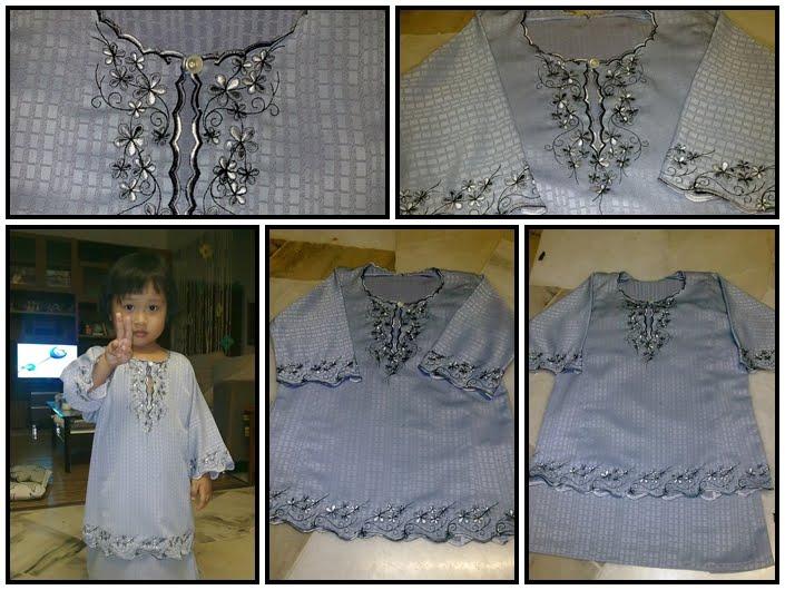 Sample baju kurung kanak-kanak.