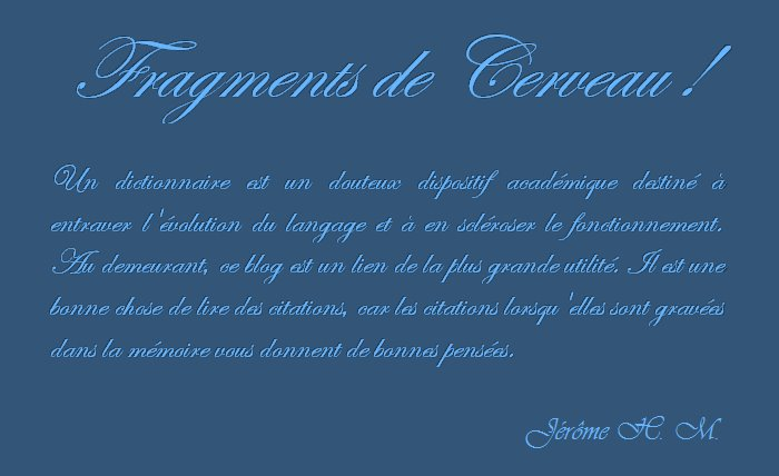 Fragments de Cerveau !