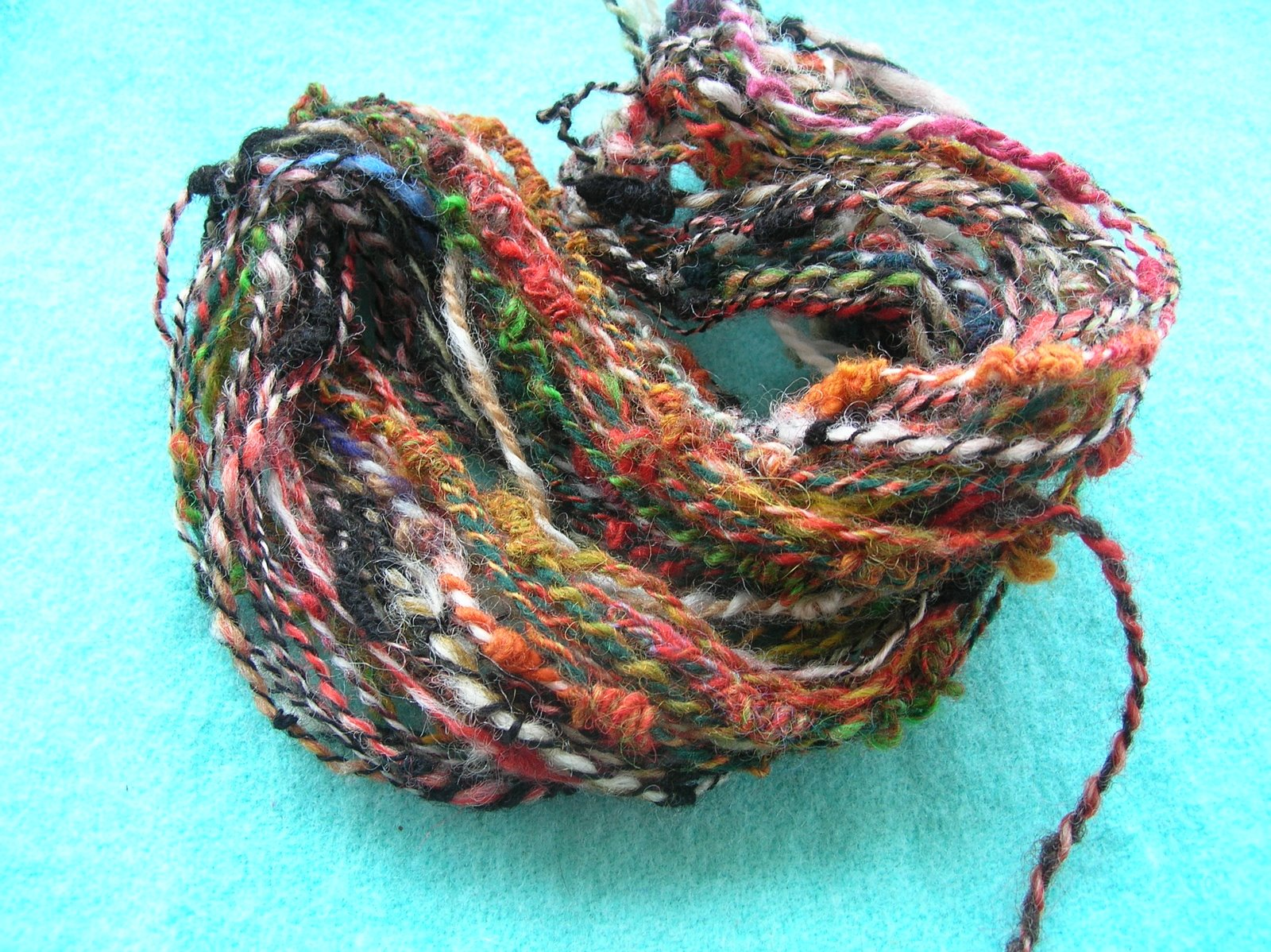 Novelty Yarn : HandSpinning Dot Com: Handspun novelty yarn sock yarn