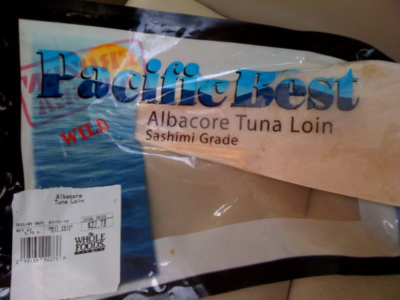 It is what it is whole foods albacore tuna review for Whole foods sushi grade fish