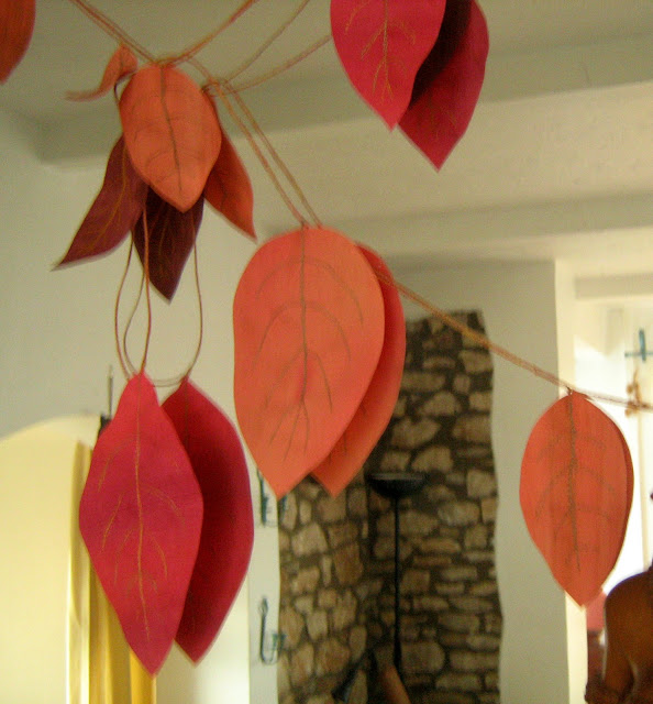 handmade fall garland