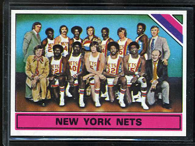 1975 Topps New York Nets Team Card