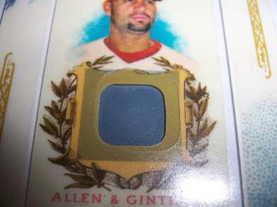2007 Allen & Ginter Albert Pujols Game Used No-Bat CloseUp