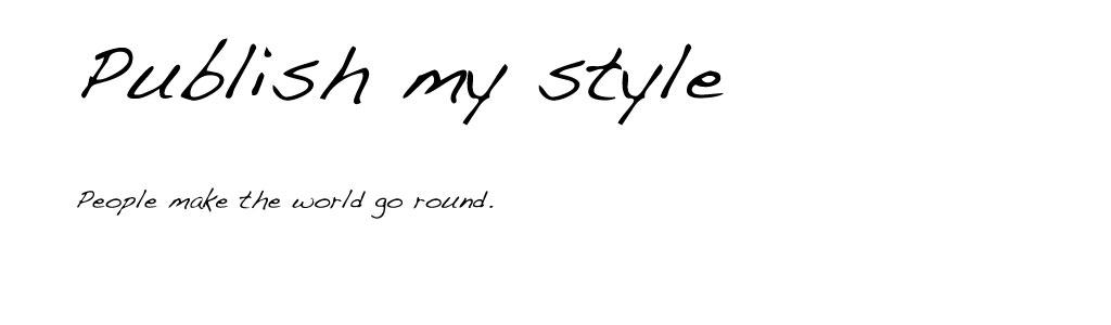 Publish my Style