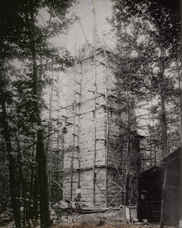 The Smoke Rise Tower under construction, early 1900s