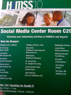HIMSS10 Social Media Center