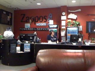 Zappos Reception Area