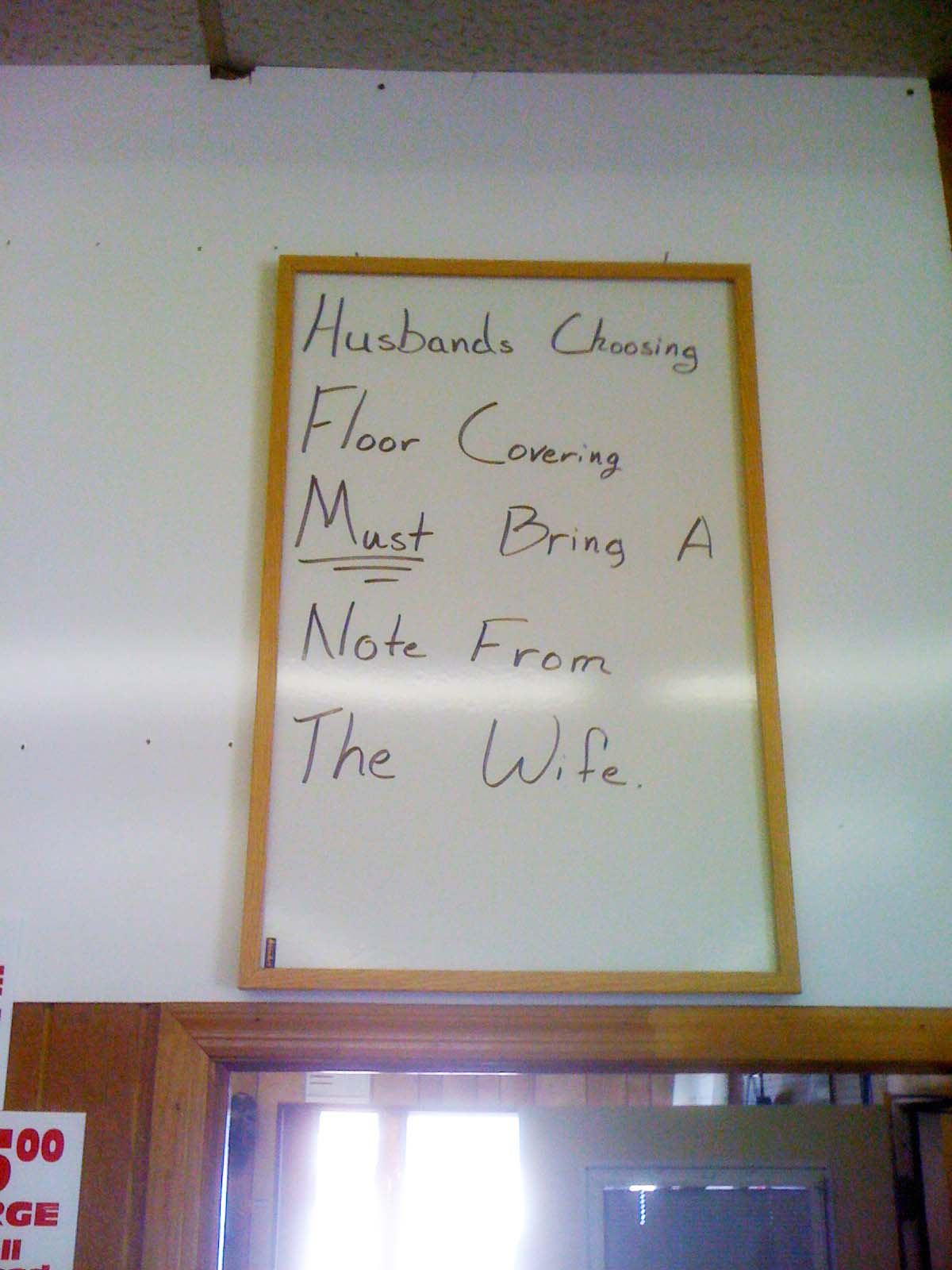 Note to wife
