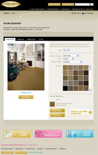 A website redesign with a room designer to visualize how flooring would look in a room
