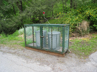 bear proof garbage cages