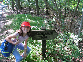 Hemlock Trail marker