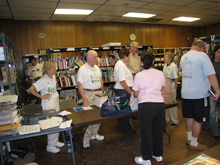 Volunteers at the Annual Kinnelon Book Sale