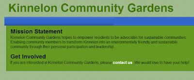 Kinnelon Community Gardens Update, Events, Website