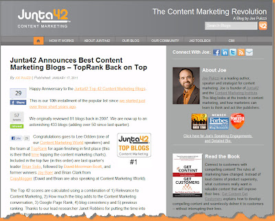 Junta42 Best Content Marketing Blogs Updated!