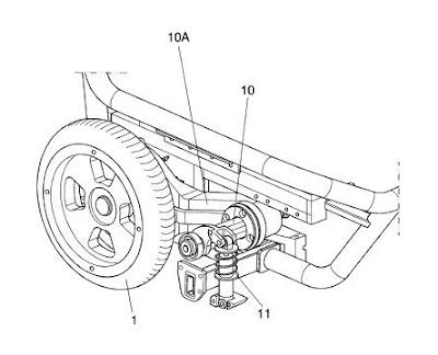 Invento nuevo: silla de ruedas con ruedas tractoras desplazables lateralmente