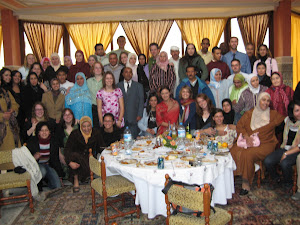 volunteers with their host families