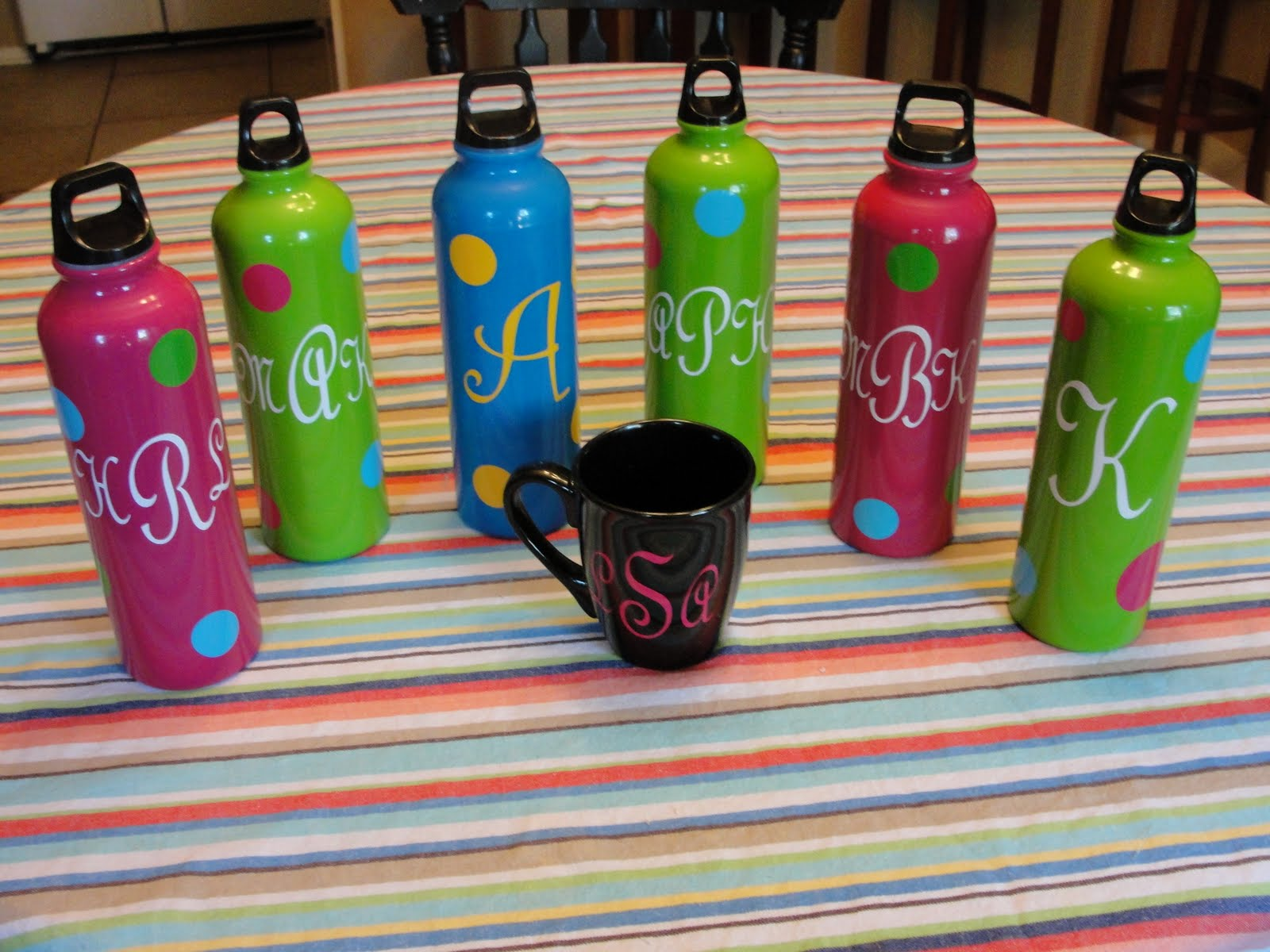 Imperfectly Beautiful: $1 Monogrammed Teacher Gifts