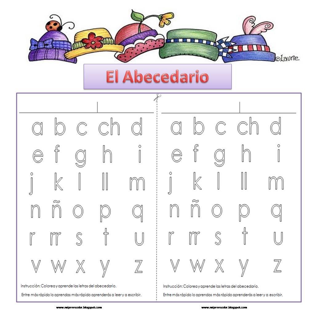 para imprimir colorear y aprender el abecedario
