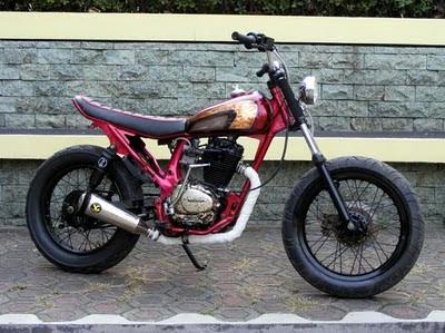Modifikasi Honda CB 100 gaya klasik original modif