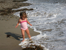 Hallie discovering the ocean