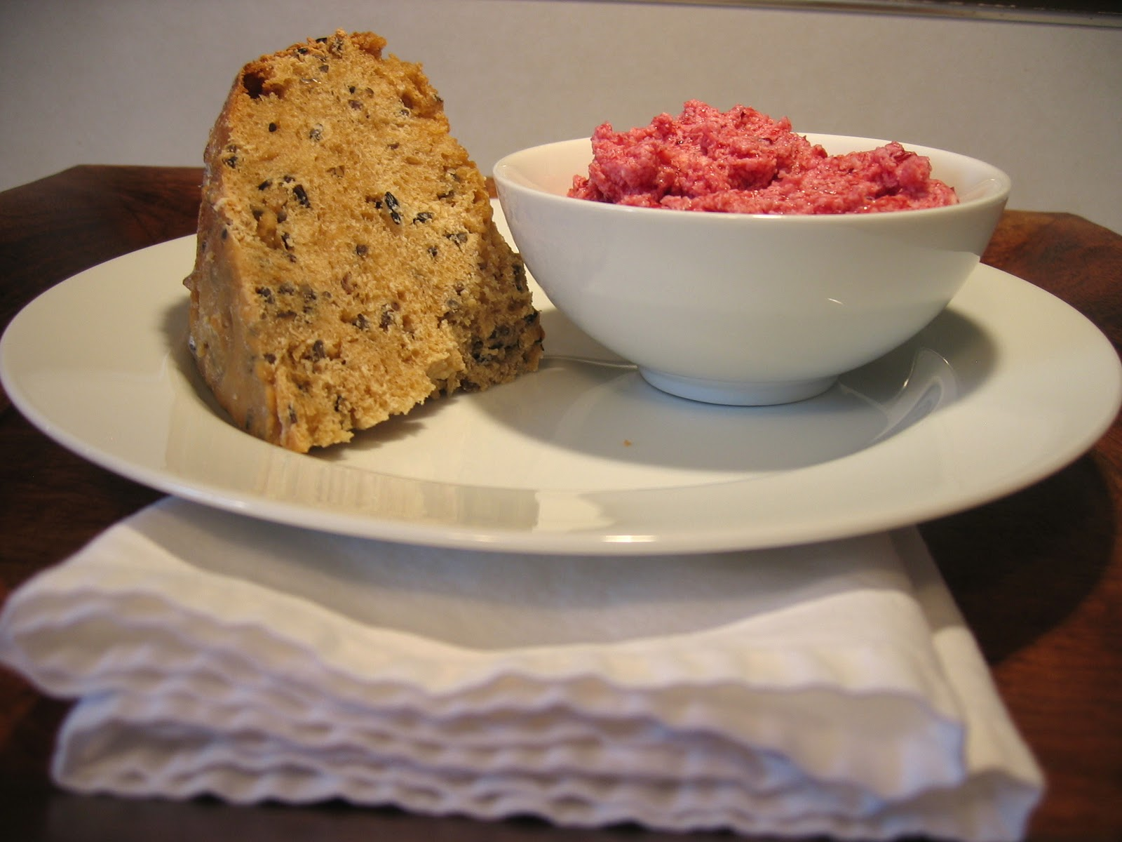 Dwelling Cents: Wild Rice Bread with Whipped Almond Cranberry Butter