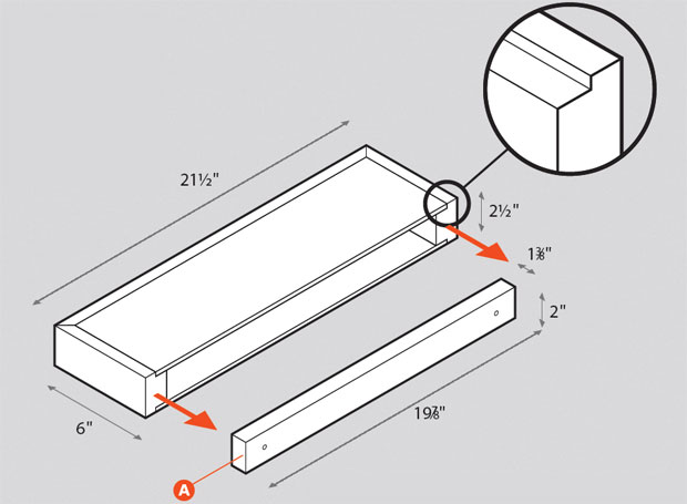 Floating Wall Shelf Plans