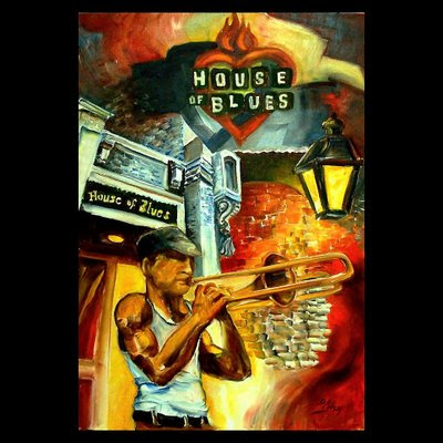 New Orleans Art,French Quarter and Jazz Oil paintings, Diane Millsap